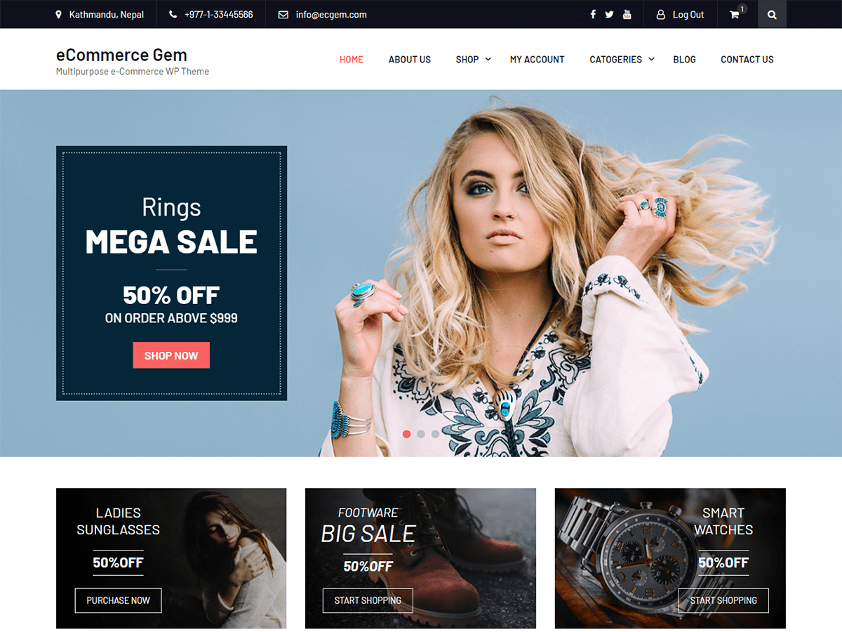 Download eCommerce Gem 2.0.2 – Free WordPress Theme