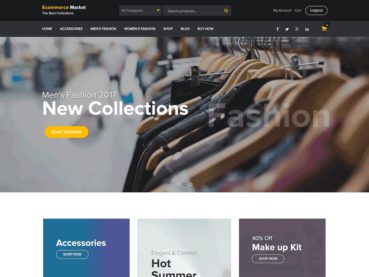 Download eCommerce Market 2.0.0 – Free WordPress Theme