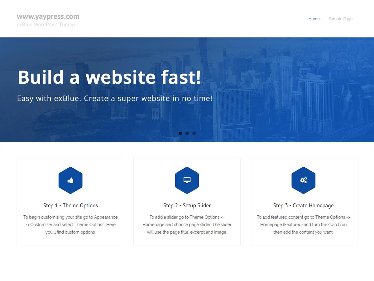 Download exBlue 1.0.0 – Free WordPress Theme