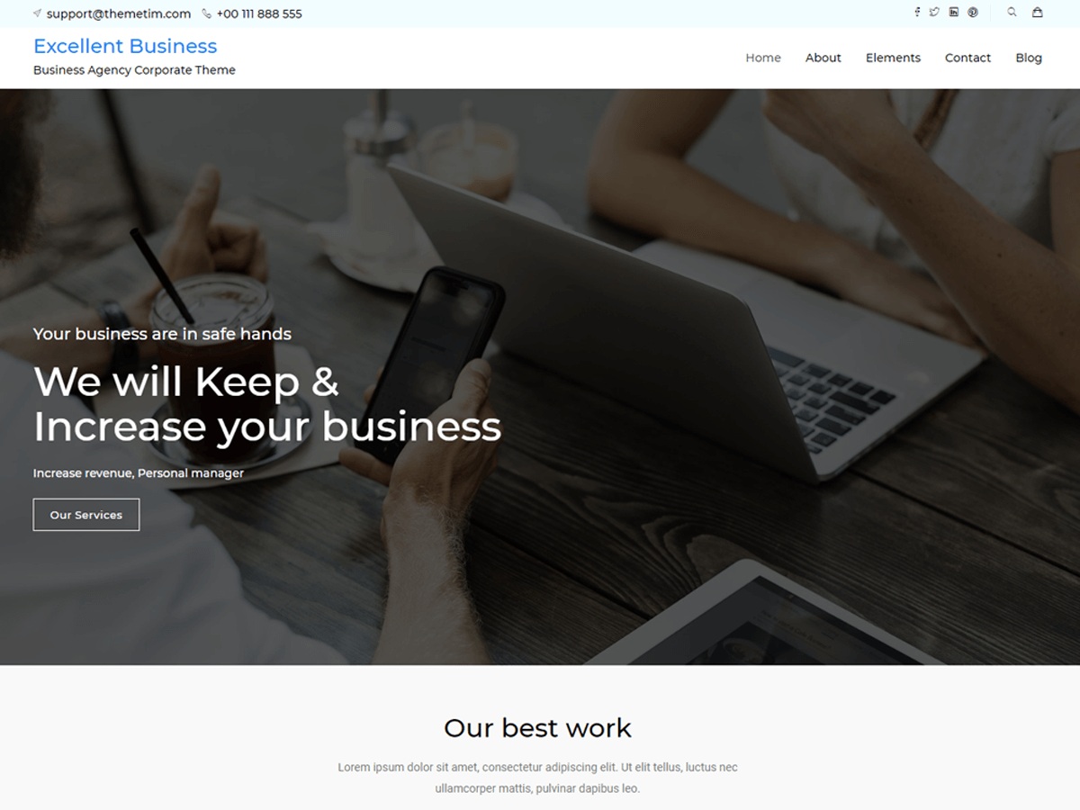 Download excellent-business 1.4 – Free WordPress Theme