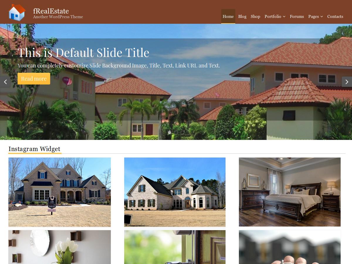 Download fRealEstate 1.0.3 – Free WordPress Theme