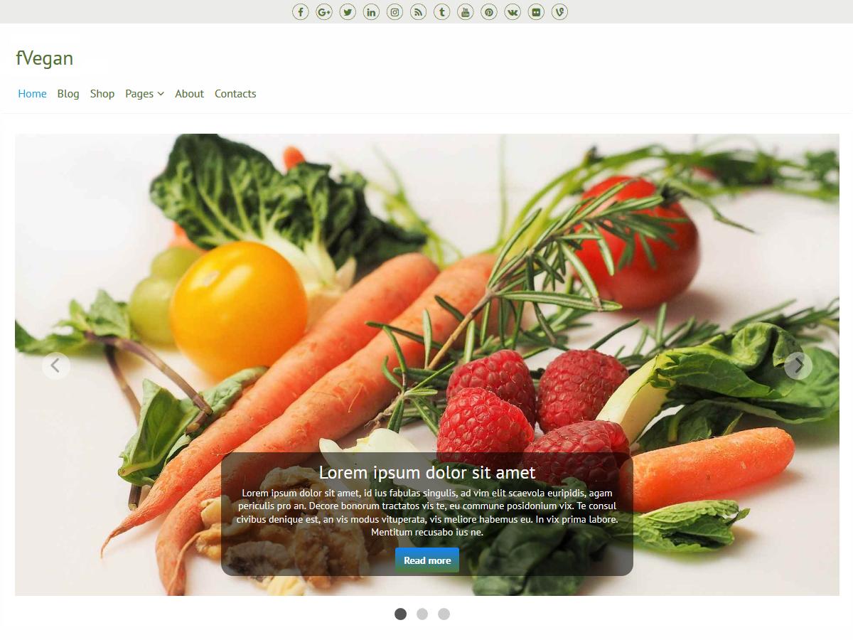 Download fVegan 1.0.1 – Free WordPress Theme