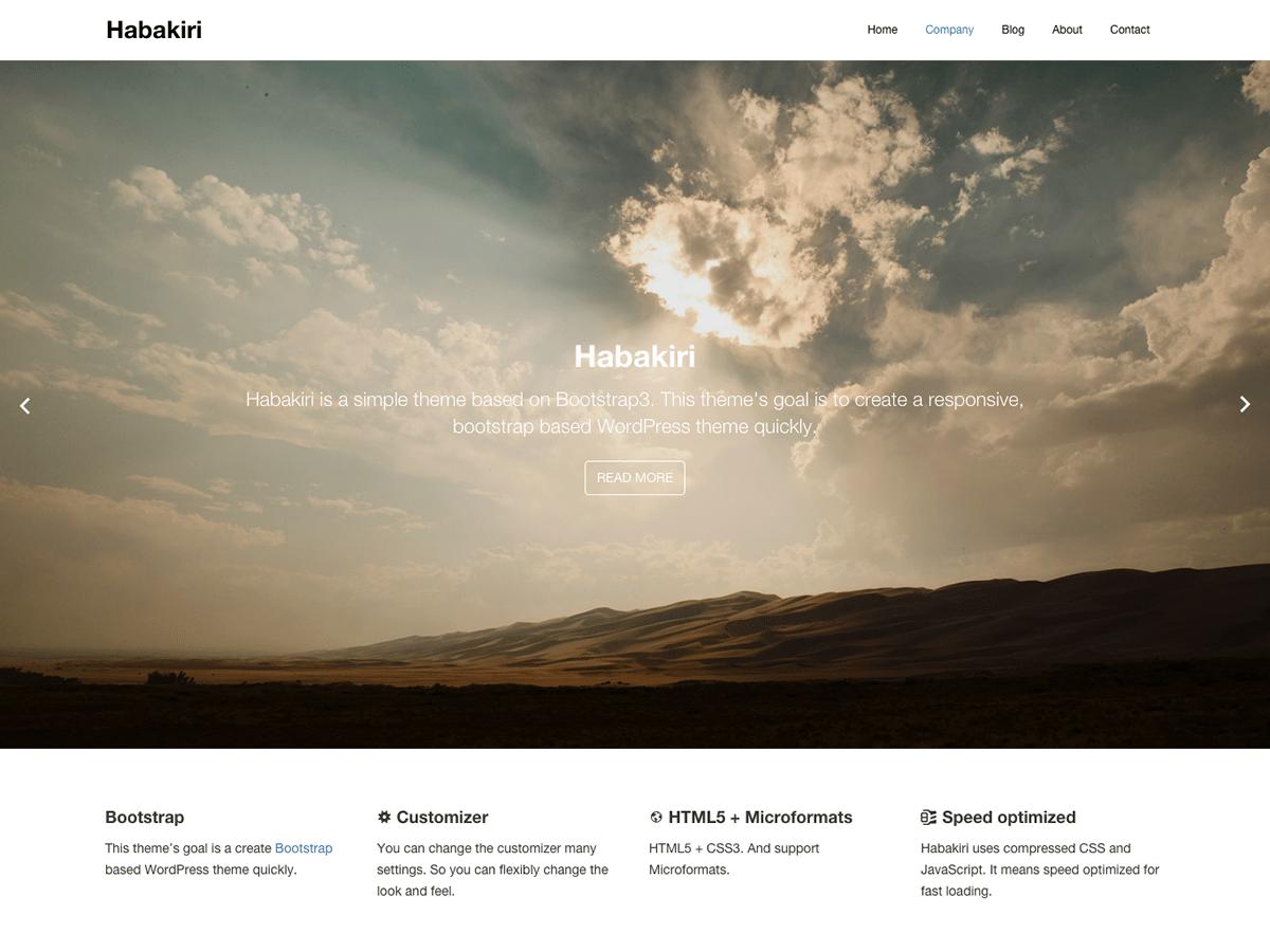 Download habakiri 2.5.2 – Free WordPress Theme