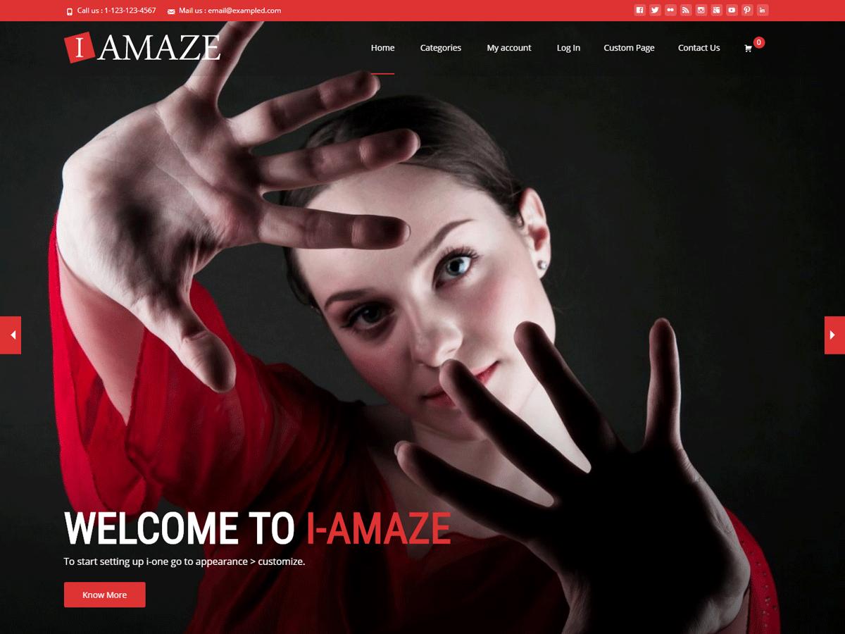Download i-amaze 1.2.2 – Free WordPress Theme