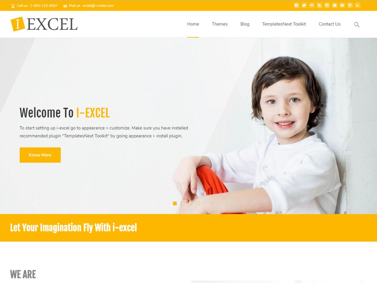 Download i-excel 1.4.6 – Free WordPress Theme
