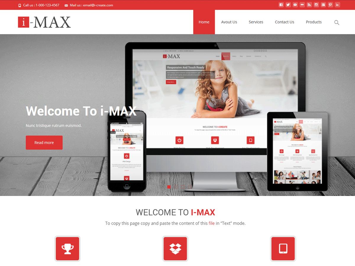 Download i-max 1.4.0 – Free WordPress Theme