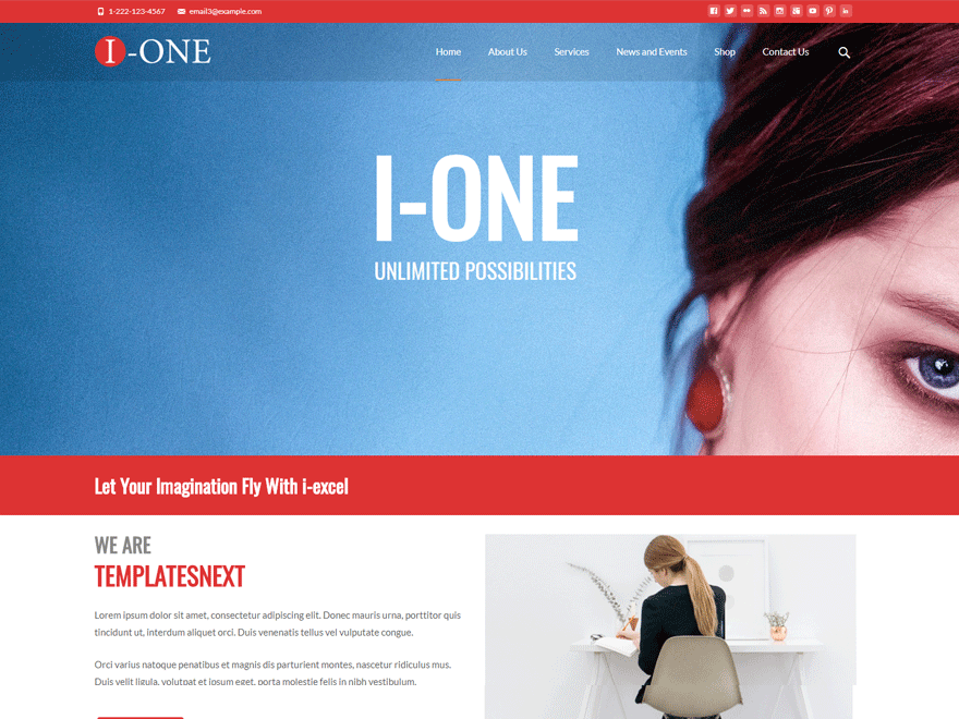 Download i-one 1.2.5 – Free WordPress Theme