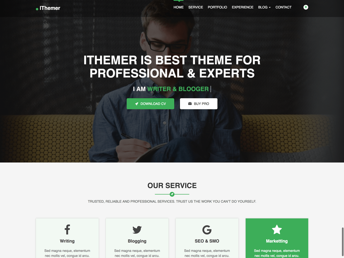 Download iThemer 1.2.3 – Free WordPress Theme