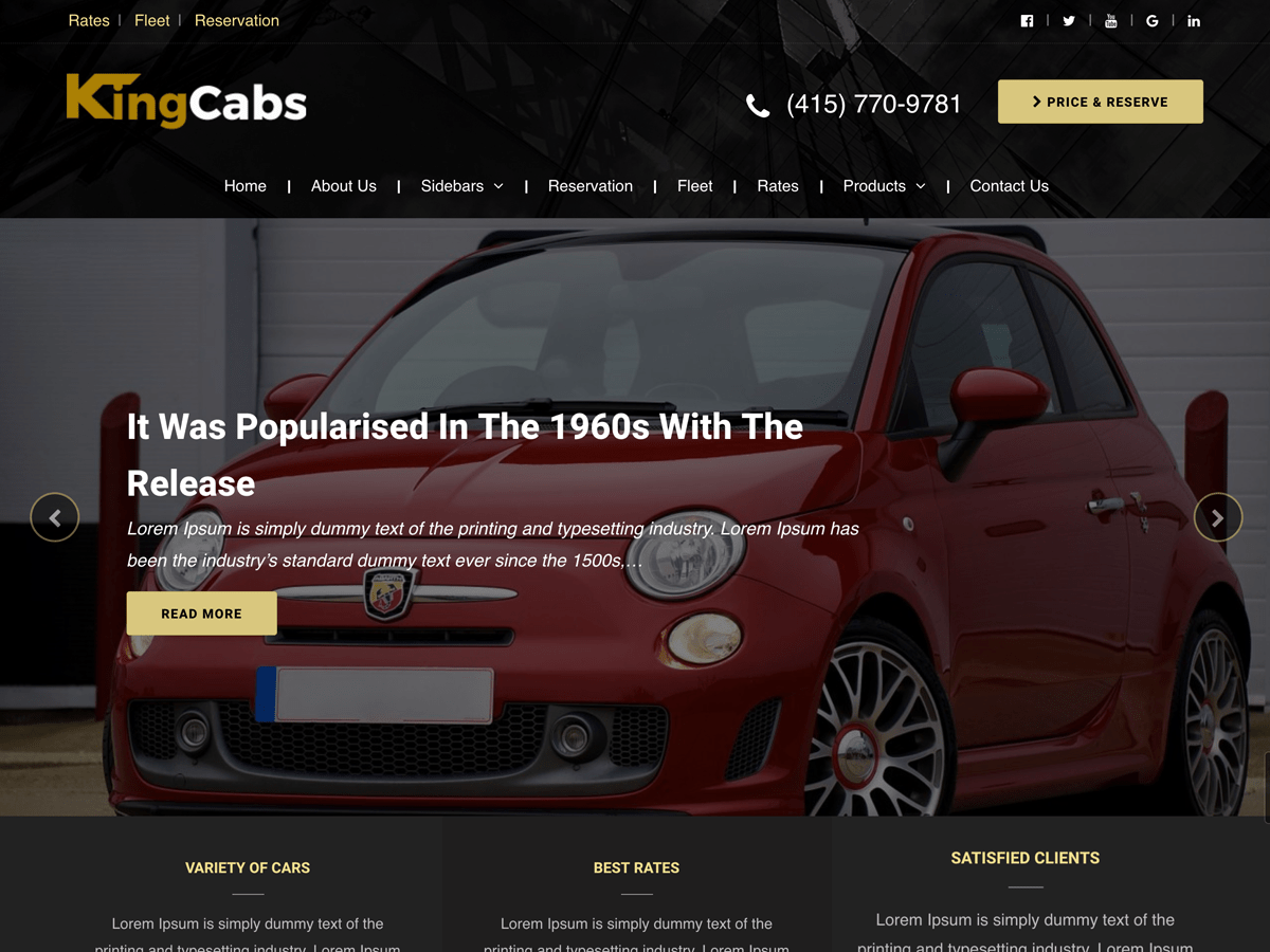 Download kingcabs 1.0.7 – Free WordPress Theme