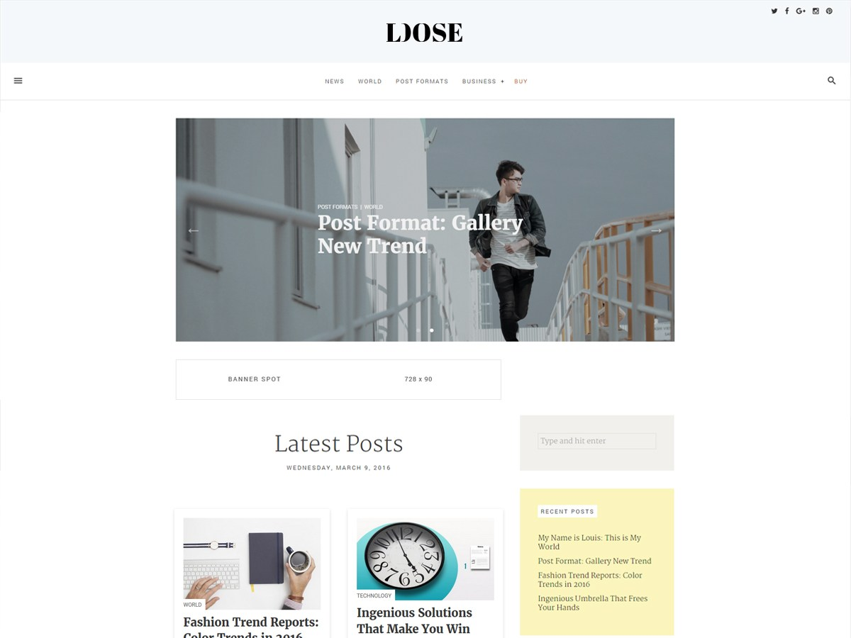 Download loose 1.2.10.64 – Free WordPress Theme