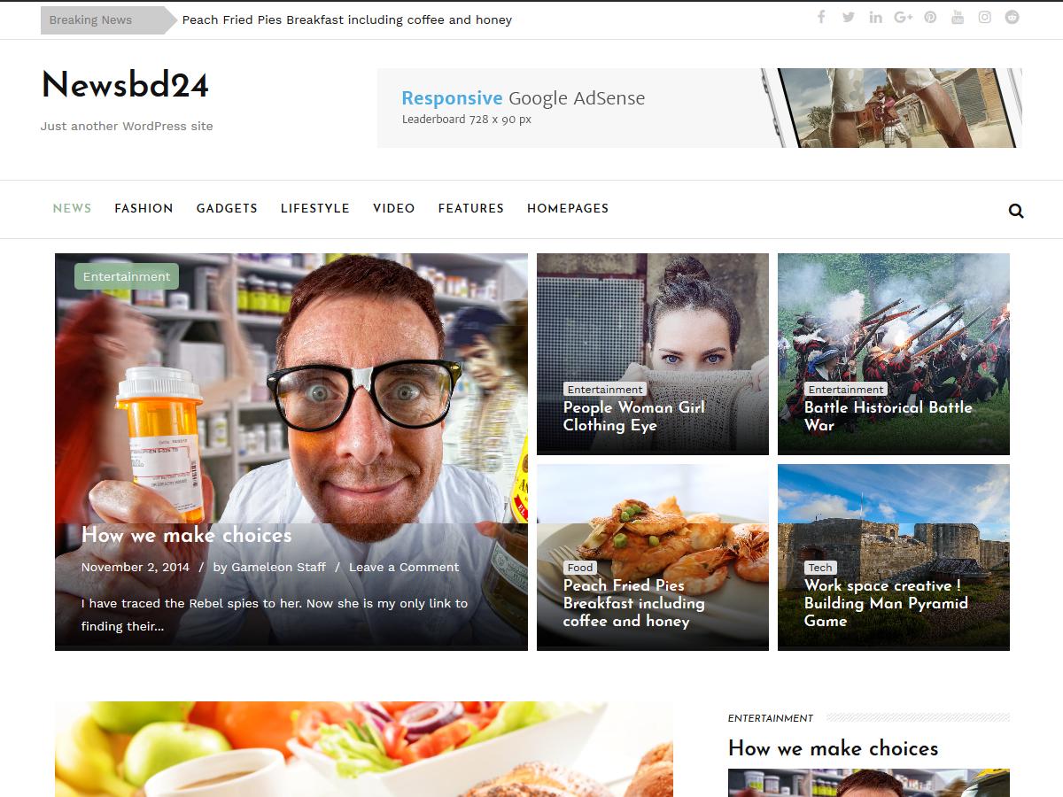 Download newsbd24 1.9 – Free WordPress Theme
