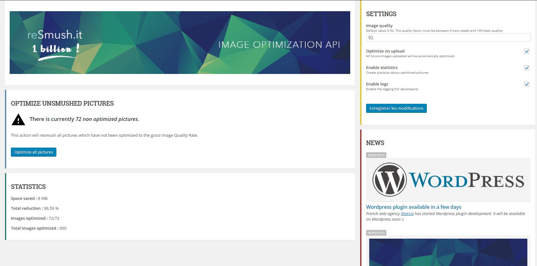 Download reSmush.it Image Optimizer 0.1.16 – Free WordPress Plugin