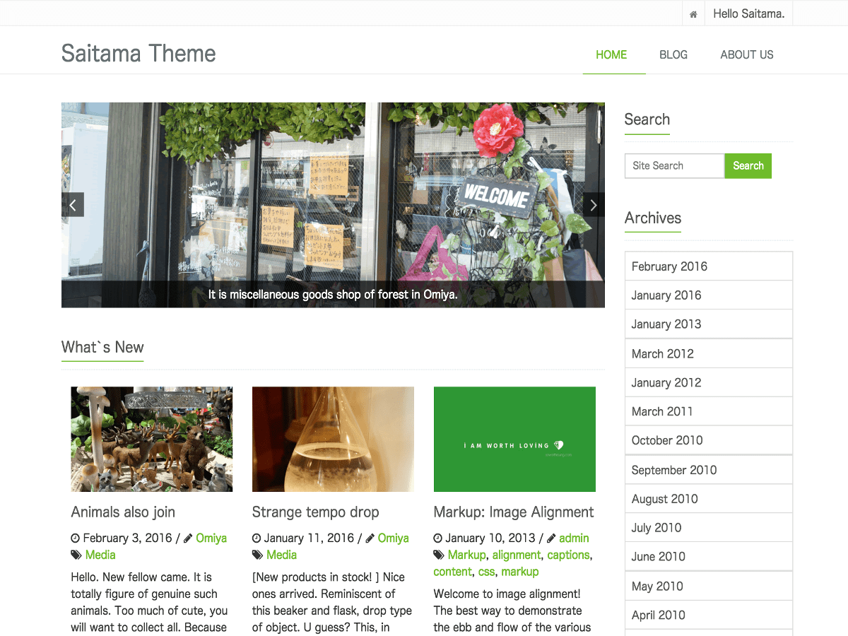 Download saitama 1.1.1 – Free WordPress Theme