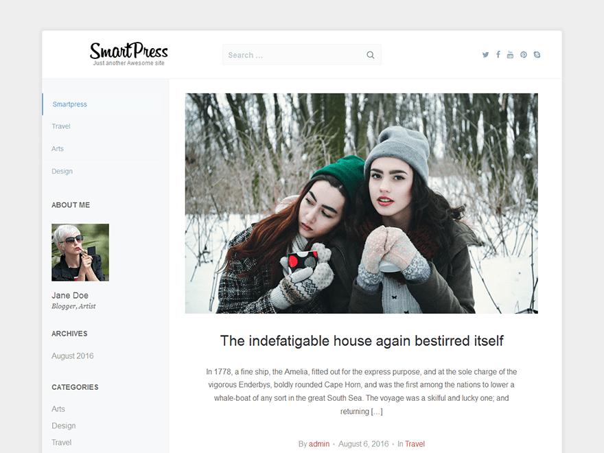 Download smartpress 1.1.6 – Free WordPress Theme