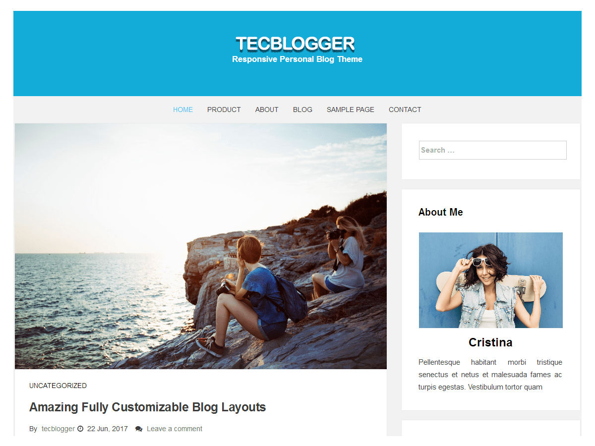 Download tecblogger 1.0.7 – Free WordPress Theme