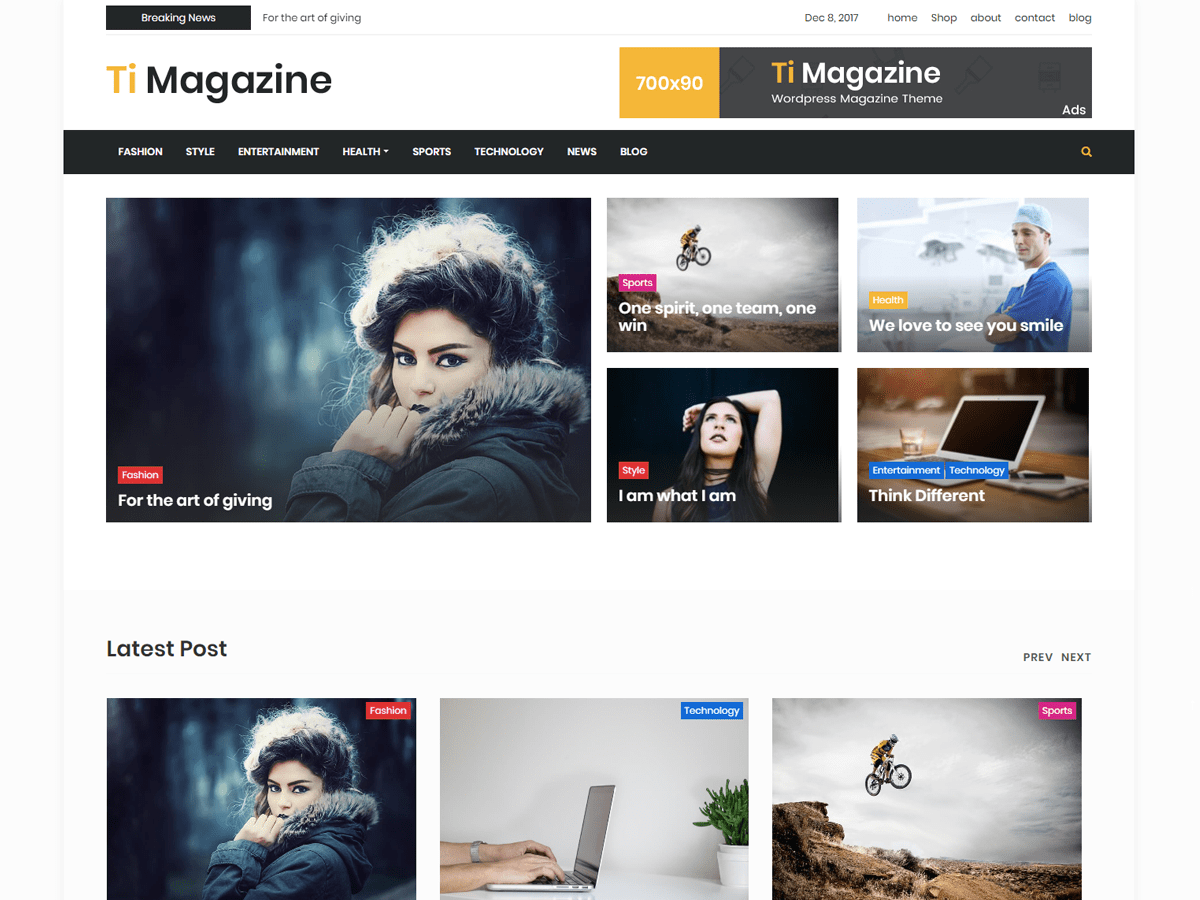 Download timagazine 1.0.17 – Free WordPress Theme