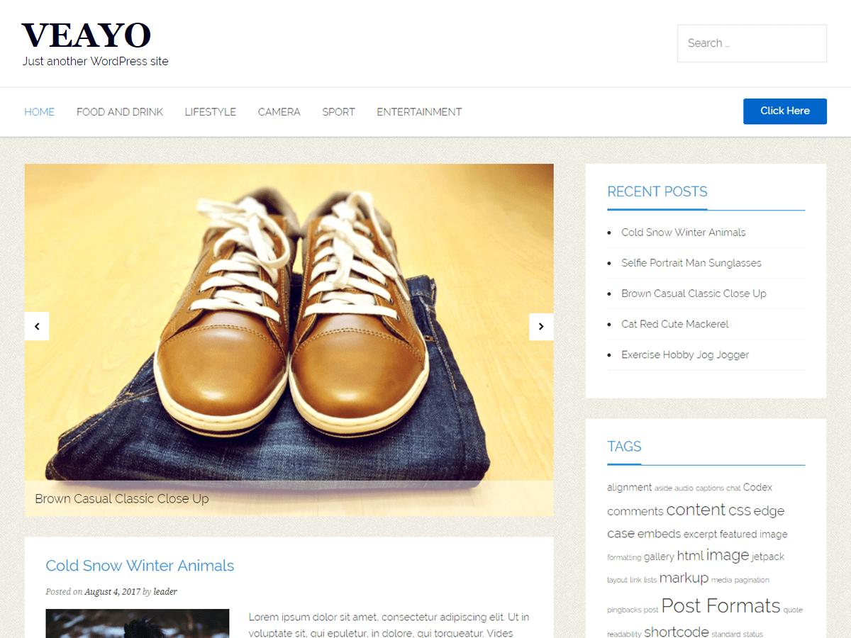 Download veayo 1.1.4 – Free WordPress Theme