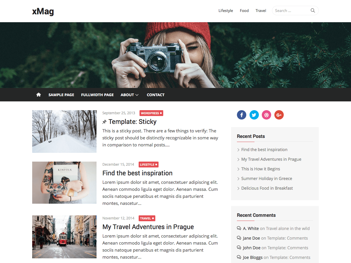 Download xMag 1.2.8 – Free WordPress Theme
